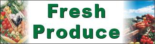Vinyl 3ftx5ft Fresh Produce Banner Alice Graphics