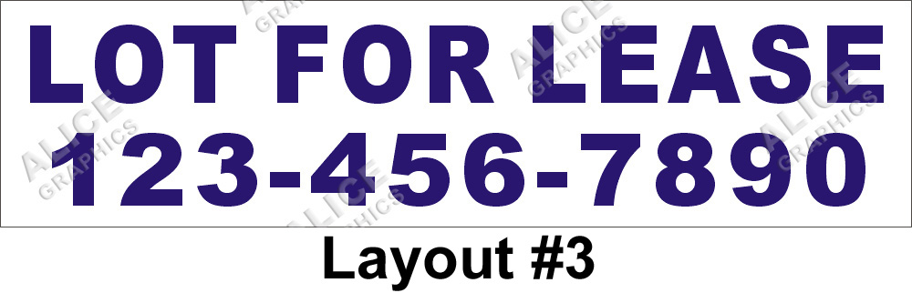 Vinyl 2ftx8ft Lot For Lease Banner With Your Phone