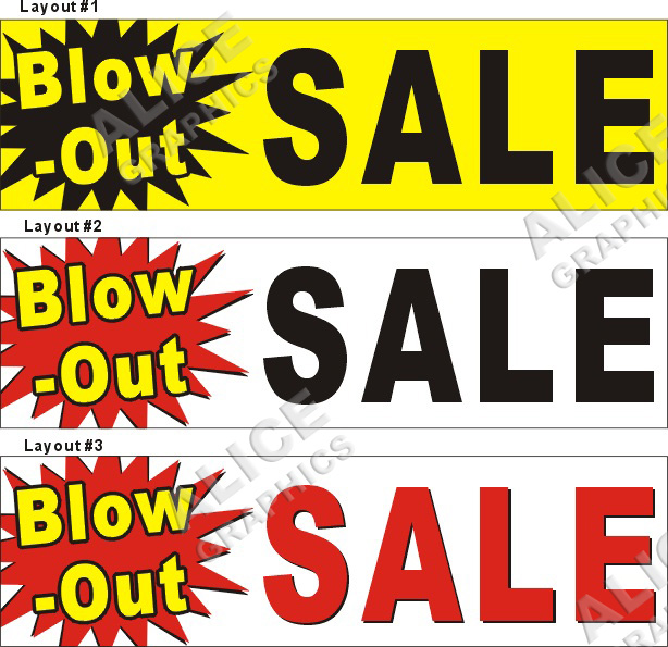 3ftx10ft Blow Out Blow Out Blowout Sale Banner Sign
