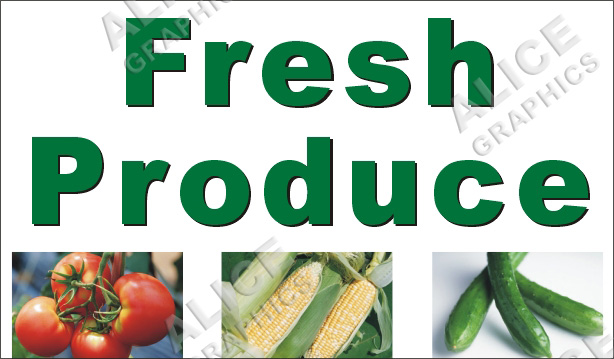 Vinyl 3ftx5ft Fresh Produce Tomatoes Corn And Cucumber