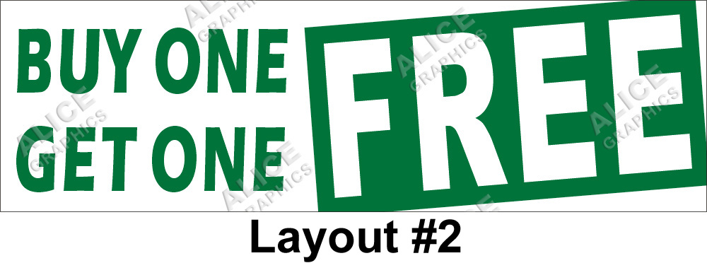Amazon.com : Sale sign BUY ONE GET ONE FREE Business sign Store ...