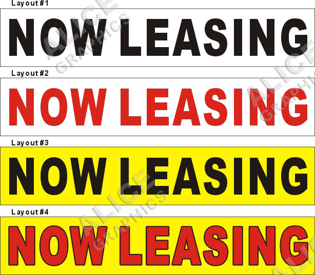 For Rent Now: For Lease Banners/For Rent Banners/For Sale Banners, Alice