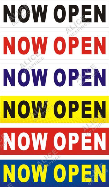 3ftx5ft Open Sundays Banner Alice Graphics