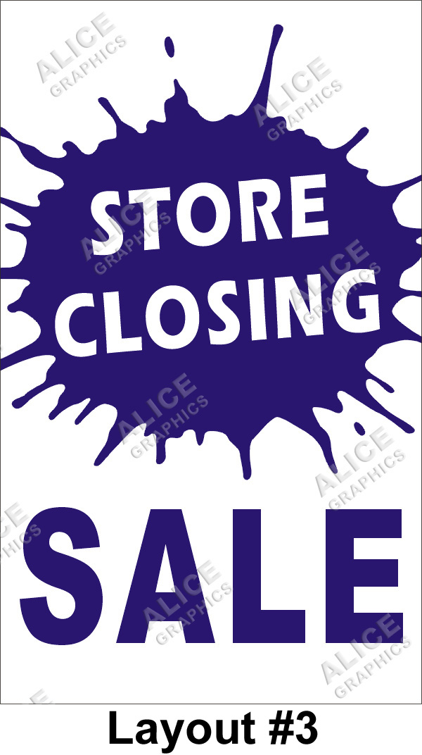 3ftx5ft Store Closing Sale Banner Alice Graphics