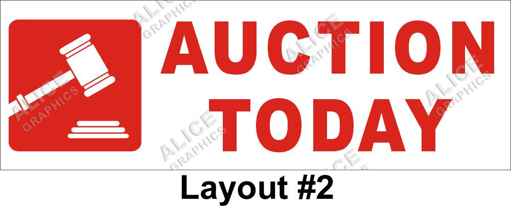 auction sign