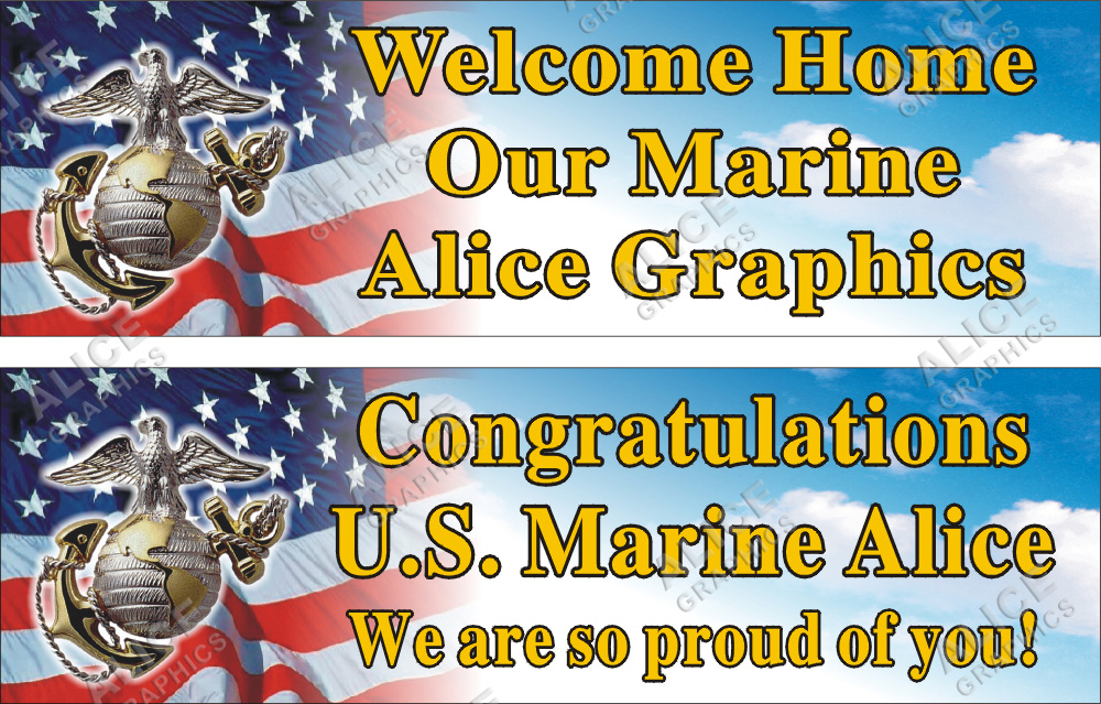2ftx6ft personalized welcome home  or congratulations  u s