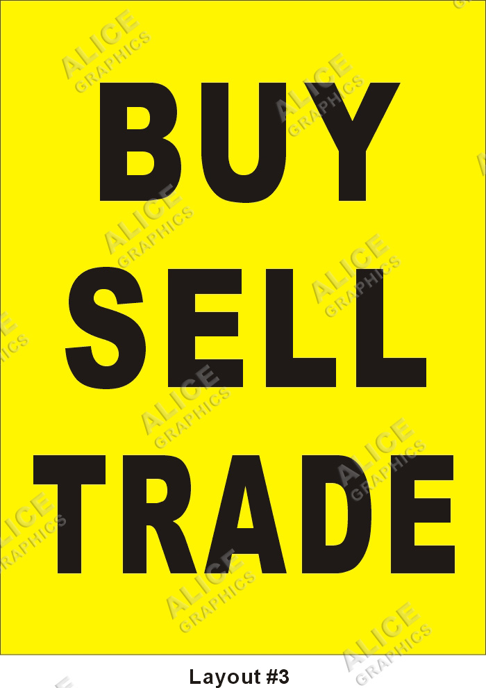 3ftx4ft Buy Sell Trade Banner Alice Graphics