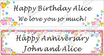 personalized happy birthday banners alice graphics