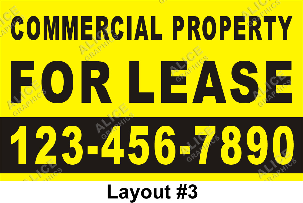 Commercial Property Graphics : Ftx ft commercial property for lease banner with your