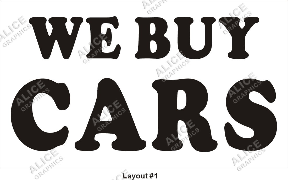 3ftX5ft WE BUY CARS Banner Sign, Alice Graphics