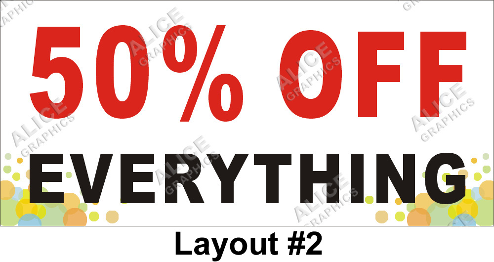 2ftx4ft 50 Off Everything Sale Half Price Sale Banner
