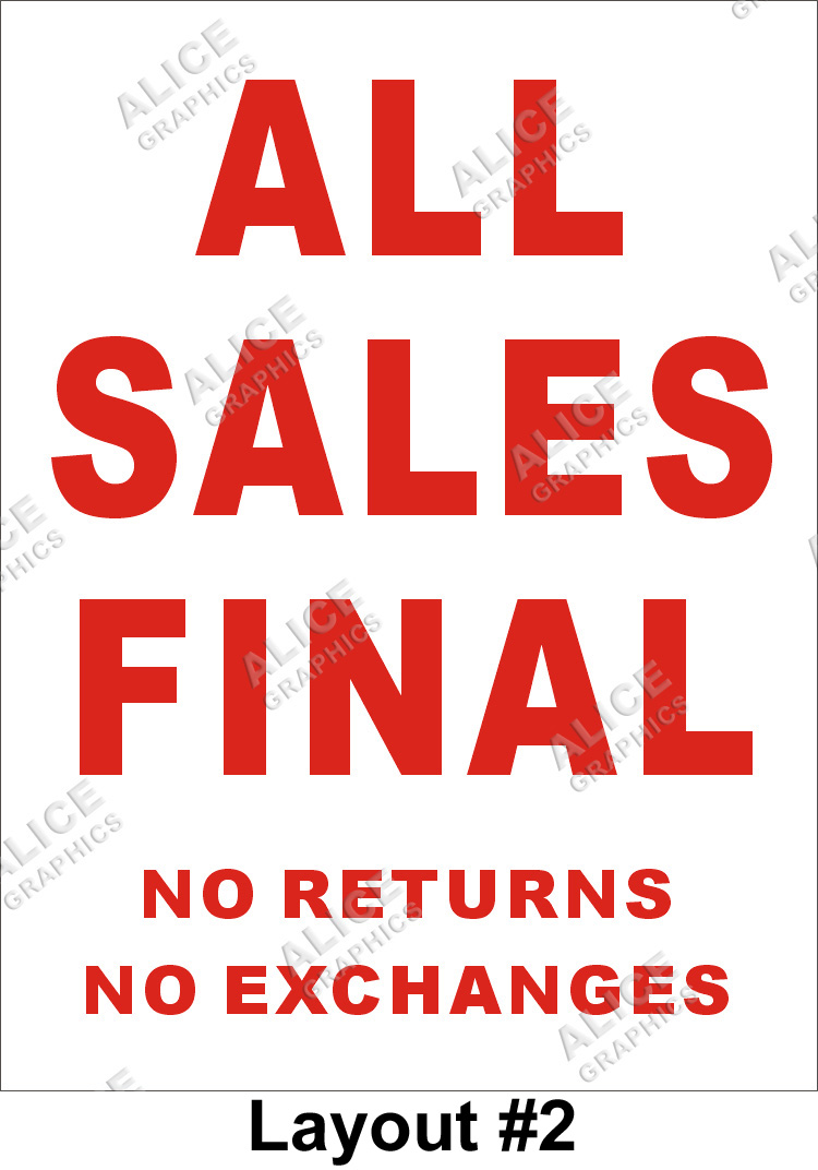 3ftx4ft All Sales Final No Returns No Exchanges Banner