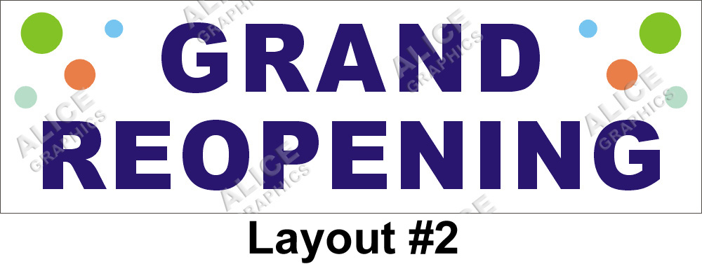 2ftx6ft Grand Reopening Re Opening Banner Bubbles Bg
