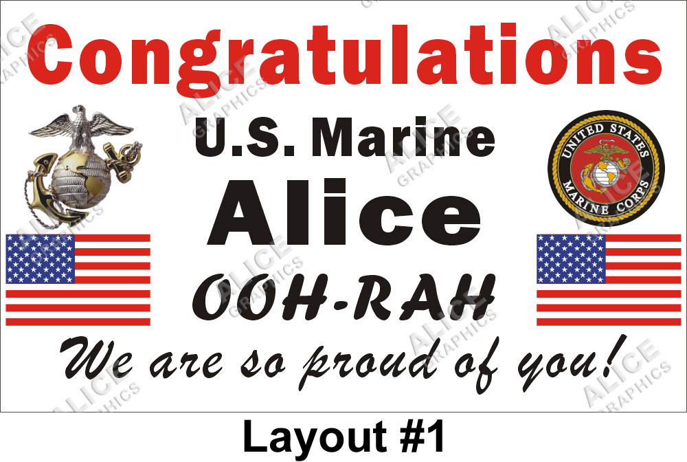 3ftx5ft custom personalized congratulations us marine corps basic