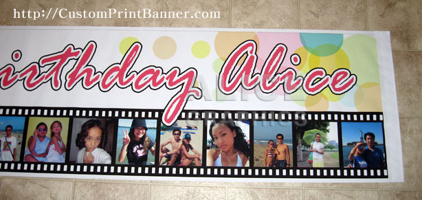 happy birthday personalized banner