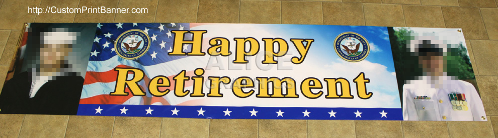 Vinyl 2ftx8ft Personalized Military Army Navy Marine