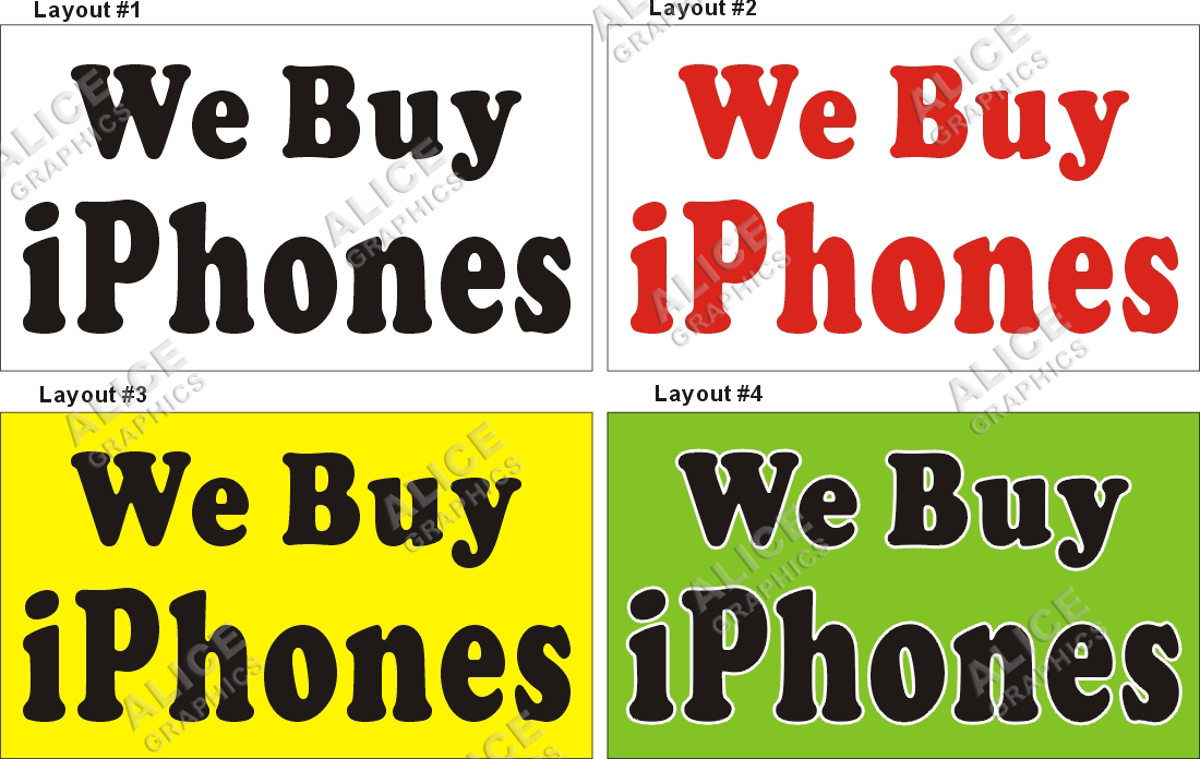 we buy iphones 3ftx5ft we buy iphones banner sign graphics 13286