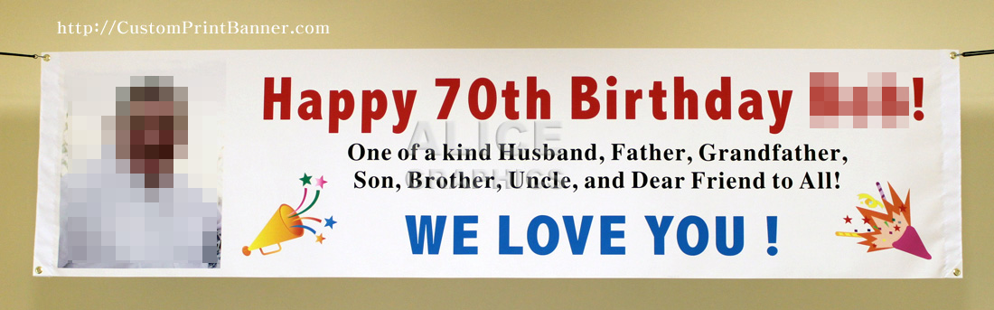 Very 2ftX8ft Custom Personalized Happy 80th (18th, 20th, 21st, 30th  WM42