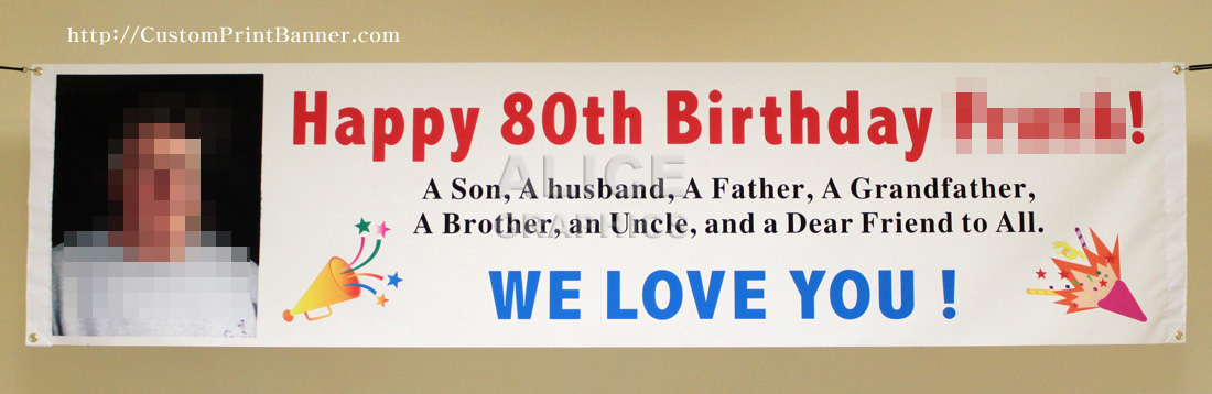 Brand-new 2ftX8ft Custom Personalized Happy 80th (18th, 20th, 21st, 30th  HC22
